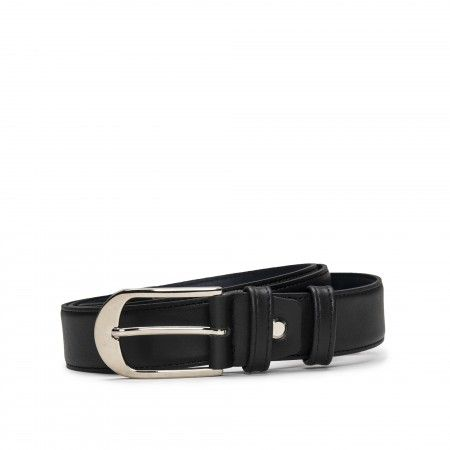 Sils Black Microfiber Vegan Belt