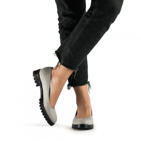Lili Piñatex Gris Zapatos veganos