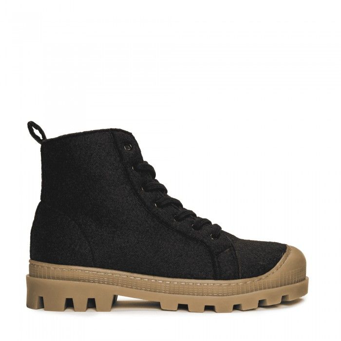 Noah Black Recycled PET ténis bota vegan