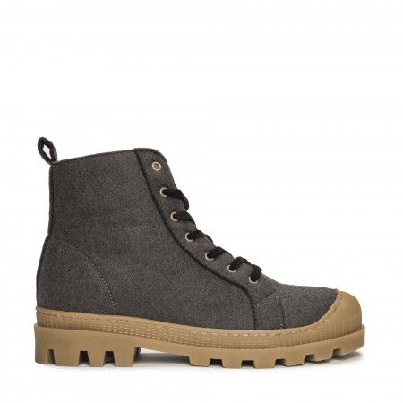 Noah Grey Recycled PET ténis bota vegan