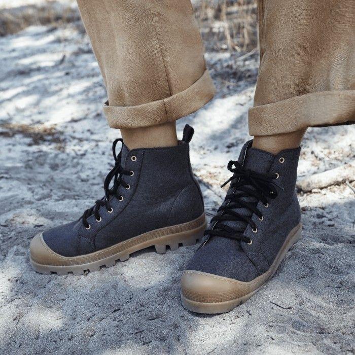 Noah Grey Recycled PET bottes chaussure de sport véganes