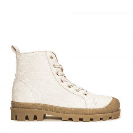 Noah Piñatex White vegan sneaker boots