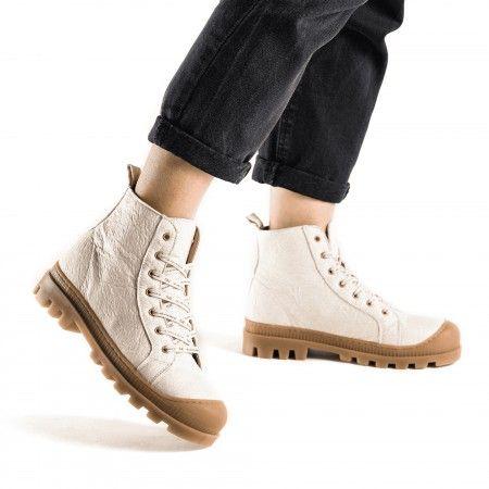 Noah Piñatex White botas zapatilla veganas