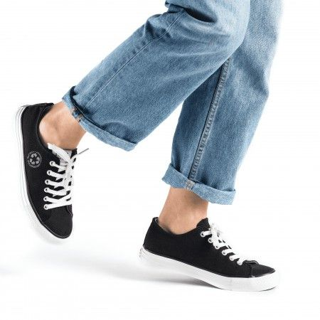 Reclaim Black Vegan Sneakers