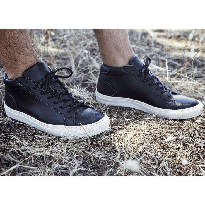 Matt Black Chaussures de sport Véganes