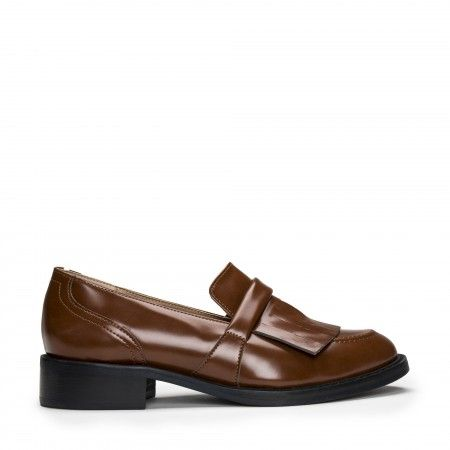 Brina Micro Brown Vegan Loafer