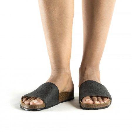 Bay Black sandálias vegan