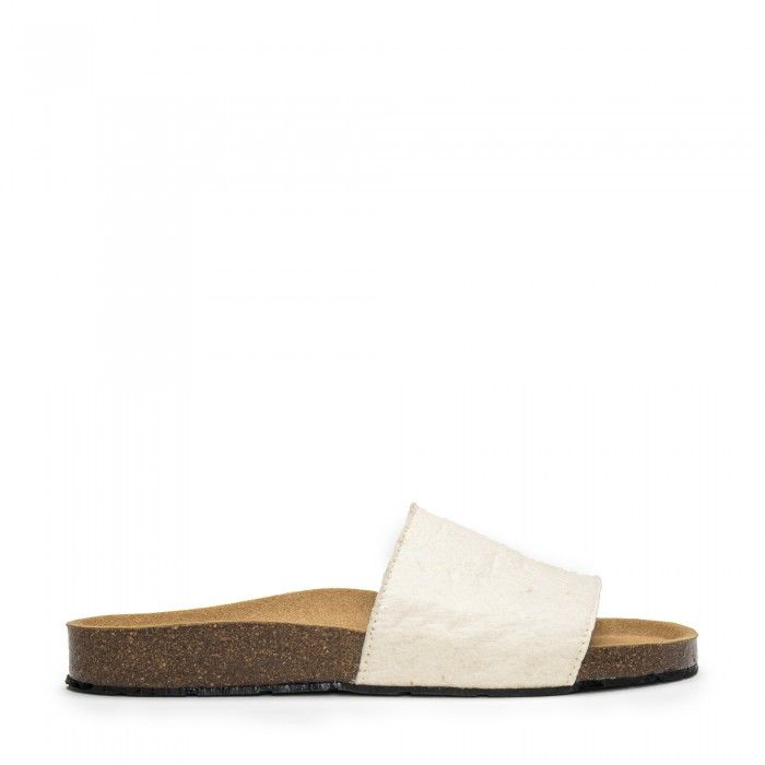 Bay White vegan sandal