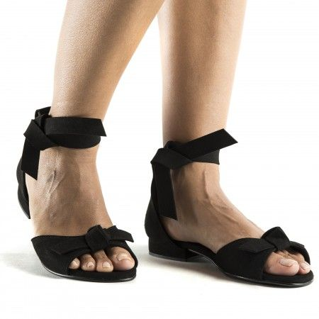 Chiara Black vegan sandals