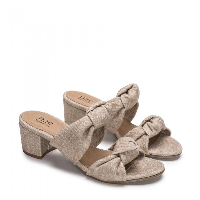 Jackie Beige vegan sandals