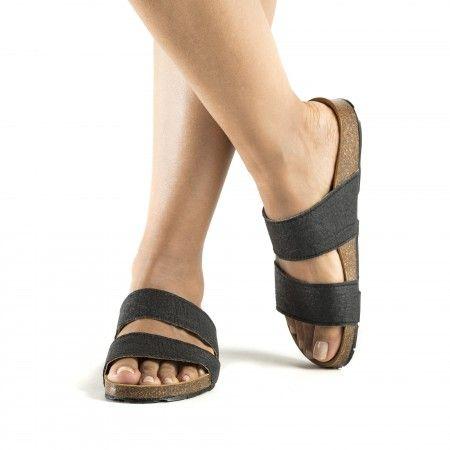 Karia Black sandálias vegan