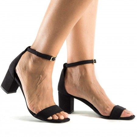 Margot Black vegan sandals