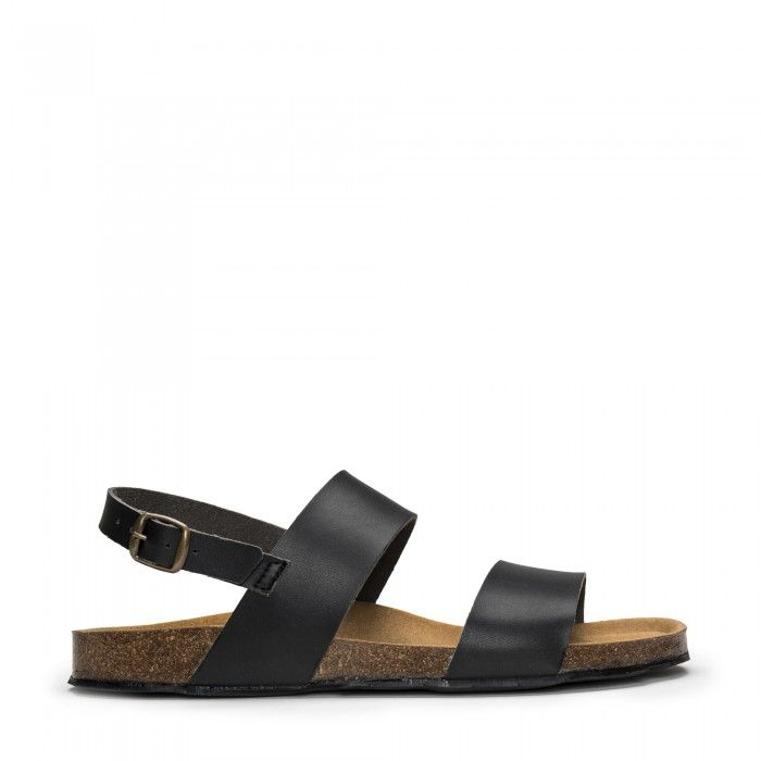Zander Black vegan sandal