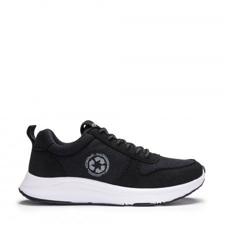 Jor Black running vegan sneakers