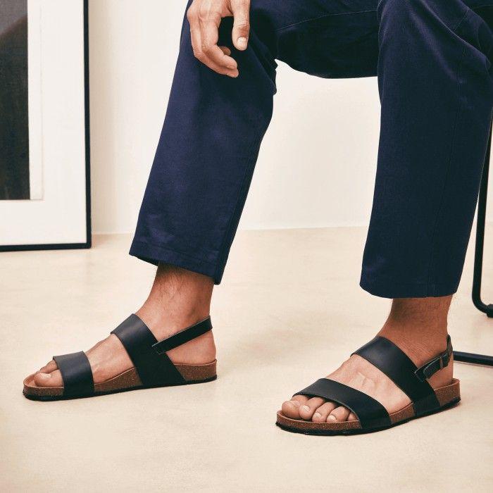 Zander Black sandálias vegan