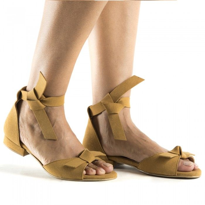 Chiara Yellow vegan sandals