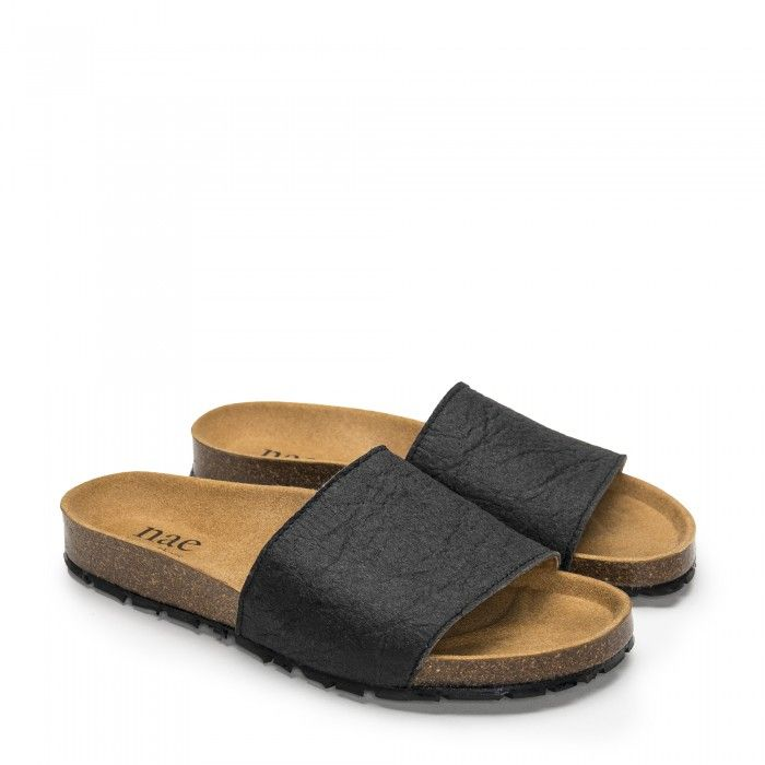 Bay Black vegane Sandalen