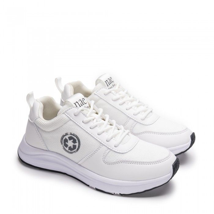 Jor White running vegan sneakers