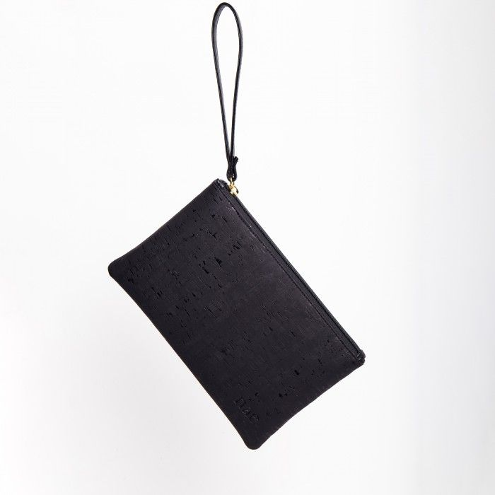 Lena Cork Black vegan wallet