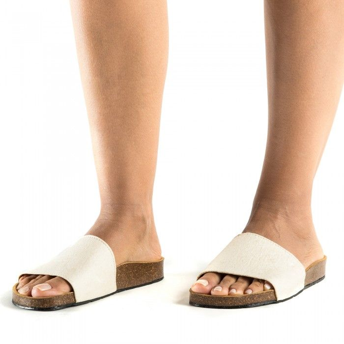 Bay White vegan sandal