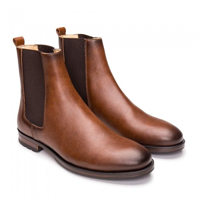 Basti Brown vegan boots